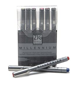 Zig Pen Sets Millennium .05 Pen Set of 8