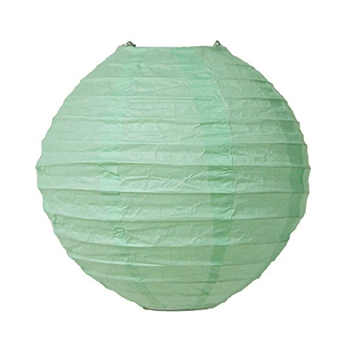 "SUNBEAUTY Mint Green 8"" Chinese Paper Lanterns Pack of 5"