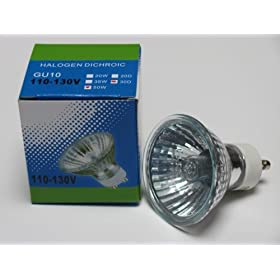 CBConcept Brand JDR GU10 120V 50W 50 Watt Halogen Light Bulb - 12 Bulbs