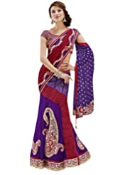 Jay Sarees Faux Georgette Blue Bollywood One Minute Saree - B00KVM47OC