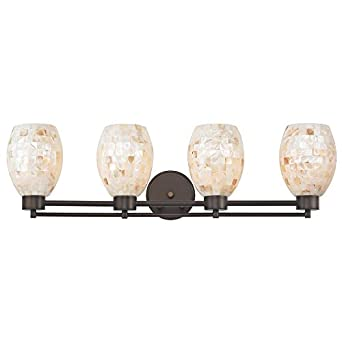 Bathroom Light With Mosaic Glass Four Lights Vanity Lighting Fixtures