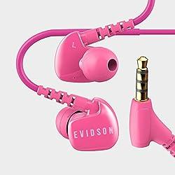 Evidson AudioSport W6 Earphones with Mic Pink
