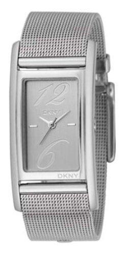 DKNY NY3992 - Reloj analógico de cuarzo unisex con correa de acero inoxidable, color plateado