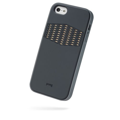 Special Sale Pong Rugged Case for iPhone 5 - Retail Packaging - Charcoal Black with Gold Reveal