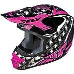 Fly Racing Kinetic Flash Helmet - 2011 - X-Small/Pink/Grey/White