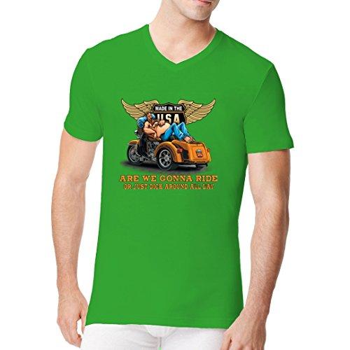 Im-Shirt - Top - Basic - Maniche corte  - Uomo Kelly Verde XX-Large