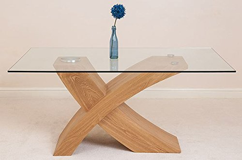 Modern furniture direct valencia glass and wood dining for Modern furniture direct