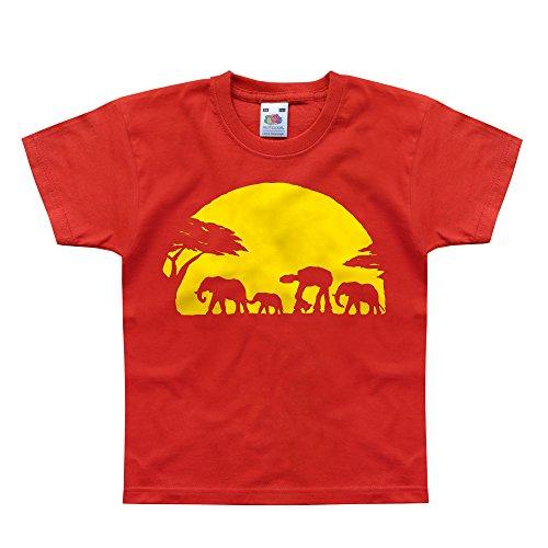 Nutees -  T-shirt - Eslogan  - Maniche corte  - ragazzo Rosso rosso
