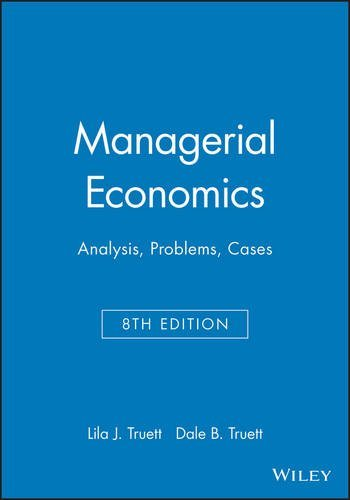 managerial economics essay questions Managerial economics term papers, essays and research papers available this paper contains the answers and two half-page reflection papers on a series of questions.