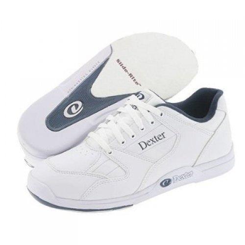Dexter Ricky II Wide Width Bowling Shoes, White, 8