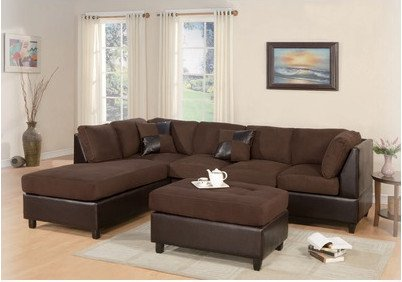 Amazing Bobkona Hungtinton Microfiberfaux Leather 3 Piece Sectional Short Links Chair Design For Home Short Linksinfo