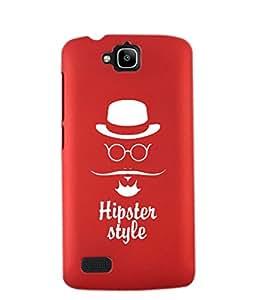 KolorEdge Back Cover For Huawei Honor Holly - Red (2437-Ke15180HonorHollyRed3D)