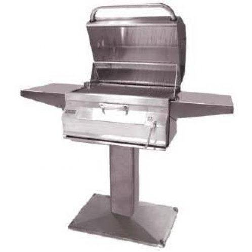 Charcoal Legacy Patio Post Grill w Smoker Hood