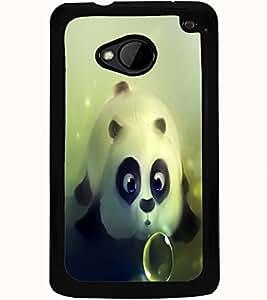 ColourCraft Cute panda Design Back Case Cover for HTC ONE M7