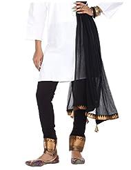 Rajrang High Quality Cotton Lycra Designer Designer Black Leggings With Dupatta