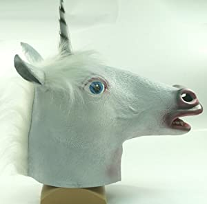 Amazon.com: Magical Unicorn Head Mask Xcoser: Toys & Games Unicorn Head Mask Amazon