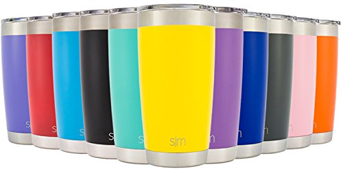 Simple Modern Tumbler Vacuum Insulated 20oz Cruiser with Lid - Double Walled Stainless Steel Travel Mug - Sweat Free Coffee Cup - Compare to Yeti and Contigo - Powder Coated Flask - Sunshine Yellow (Coffee Stainless Steel Tumbler compare prices)