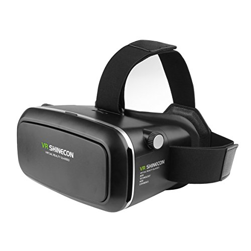 New 3D VR Virtual Reality Glasses Headset with Head-mounted Headband NFC tag for 3.5-6.0 Inch Google iPhone Samsung note LG Nexus HTC Mobile Smartphones etc.