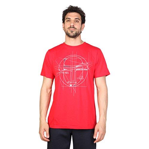 Sergio Tacchini - Carleton - T-Shirt moderna a maniche corte - Uomo (XL) (Rosso/Bianco)