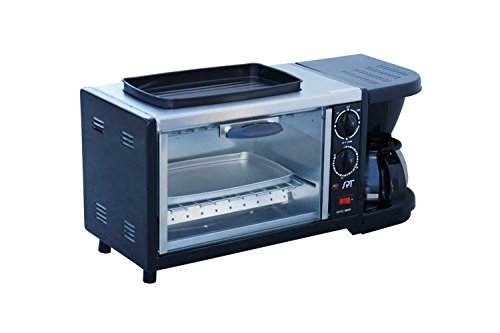 SPT BM-1118 Stainless Steel 3-in-1 Breakfast Maker, Black (Toaster Oven With Coffee Maker compare prices)