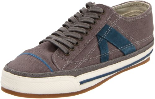PF Flyers Men's Number 5 Sneaker,Grey/Blue,11.5 D US