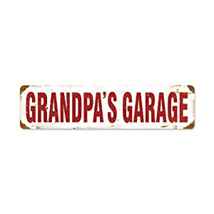 Grandpa's Garage Home and Garden Vintage Metal Sign - Victory Vintage Signs