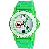 Super Drool Gear Shape Dial Green Kids Wrist Watch