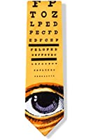 Yellow Microfiber Tie | Eye Chart Necktie