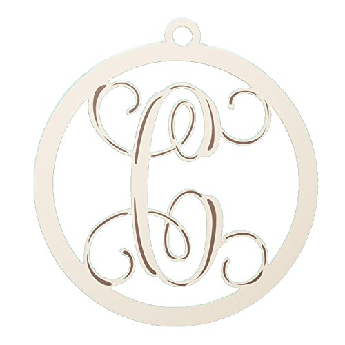 Glory Haus Cream Wooden Letter C Wall Hanging, 24 x 23-Inch