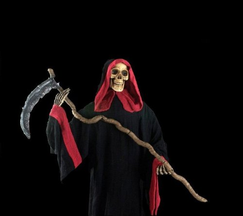 Sun-On International Co Ltd Men's Skeleton Reaper Costume Red Large