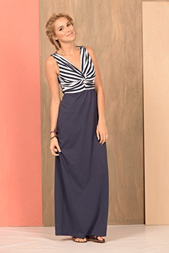 Knotty Maxi Dress S In Navy/White