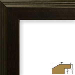 "18x31 Picture Frame, Smooth Grain Finish, 1.5"" Wide, Walnut Brown, .093"" Acrylic, Foamcore (FW4WA)"