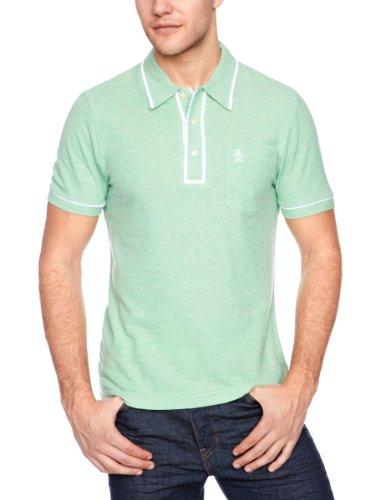 Original Penguin Earl Polo Men's T-Shirt Neptune Green Heather Large