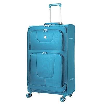 Aerolite Super Lightweight 8 Wheel Spinner Luggage Suitcase Travel Trolley Cases (26, Teal)