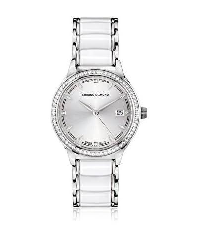 Chrono Diamond Orologio con Movimento al Quarzo Svizzero Woman 10410C Bianco 34 mm
