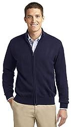 Port Authority Men\'s Full-Zip Mock Neck Sweater_Navy_XX-Large