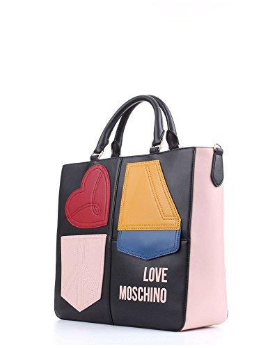 Borsa Love Moschino JC4273PP02KK100A Calf Pu Mix/Nero/Cipria/Rosso