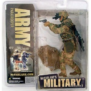 Ethnic Olive Skin Tone ARMY PARATROOPER McFarlane's Military REDEPLOYED Series 2 Action Figure & Display Base (Army Paratrooper Figure compare prices)