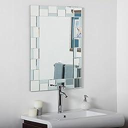 Decor Wonderland Quebec Modern Bathroom Wall Mirror - 24W x 32H in.