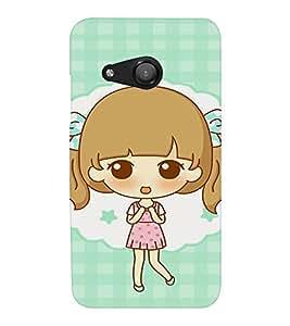 EPICCASE Excited Little Girl Mobile Back Case Cover For Microsoft Lumia 550 (Designer Case)