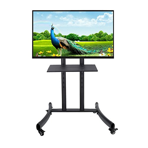 CO-Z Mobile TV Cart for Flat Screen Panel LED LCD Plasma with Lockable Wheels fits 32'' to 65'' (55 Inch Tv Stand With Mount compare prices)