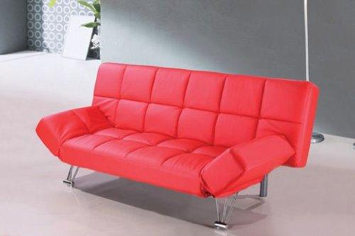 Sofa cama tres plazas apertura clic clac en piel textil for Sillon cama amazon