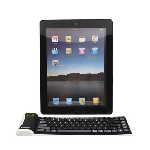 Ikross Bluetooth Wireless Silicone Keyboard For Compatible Models