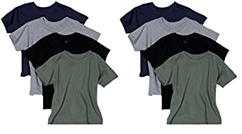 Fruit of the Loom Boys 8 Pack Boys Assorted Crew-Neck T-Shirts / Undershirts - Small