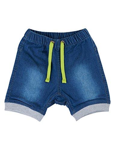 Phister & Philina Baby - Jungen Short MAX BABY, Einfarbig, Gr. 74, Blau (Denim DEN)