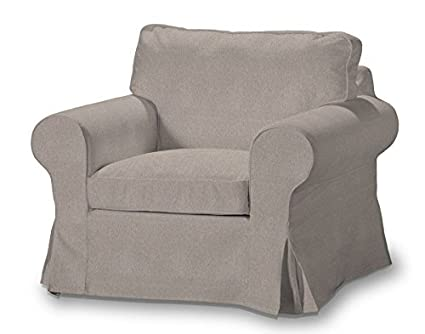 FRANC Textile 612-705-09 Ektorp Arm Chair One Seater Burdeaux Fabric Sesselhusse, Ektorp Armchair Etna, beige / Grey by FRANC-TEXTIL