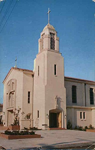 Queen of All Saints Catholic Church Concord, California Original Vintage Postcard (City Of Concord California)