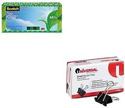 KITMMM81224PUNV10200 - Value Kit - Scotch Magic Greener Tape MMM81224P and Universal Small Binder Cl