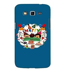 Fuson Premium Happy B`Day Printed Hard Plastic Back Case Cover for Samsung Galaxy Grand 2 G7102 G7106