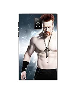Make My Print Sheamus Printed Blue Hard Back Cover For BlackBerry Passport